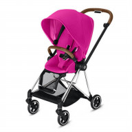 CYBEX Mios 3-in-1 Travel System Chrome with brown details Baby Stroller Fancy Pink