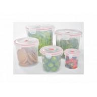 11-pcs Vacuum Food Storage Containers, Round