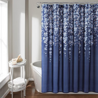 Weeping Flower Shower Curtain Navy Single 72X72