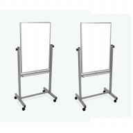 Luxor Double Sided Magnetic Mobile Whiteboard 24