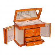 Mele & Co. Josephine Wooden Jewelry Box in Oak Finish