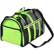 Portable Pet Carry Bag Fold-able Pet Carrier Dog Cat Carrier for Travel,GREEN-S