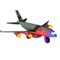LED Light Diecast Air Bus A380 Green Plane Model for Kids 7.8''*7''