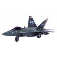 Plastic Airplane Model F-22 Military Aircraft Model for Kids, 7.5''