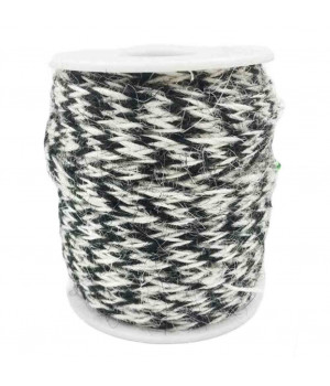 Black/White 2 Piece x 32 Feet-8mm Jute Twine Gift Packing Strings DIY Home Decor