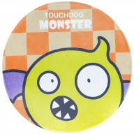 Touchdog Cartoon Flying Critter Monster Rounded Cat and Dog Mat- One Size/Yellow Monster