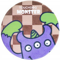 Touchdog Cartoon Three-eyed Monster Rounded Cat and Dog Mat - One Size/Purple Monster