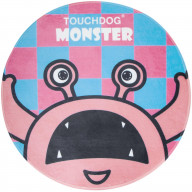 Touchdog Cartoon Up-for-Crabs Monster Rounded Cat and Dog Mat- One Size/Pink Monster