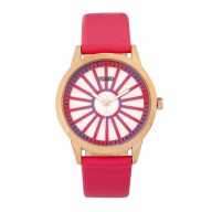 Crayo Electric Leatherette Strap Watch - Hot Pink
