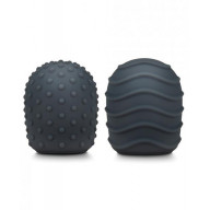 Le Wand Original Silicone Textured Covers Black Pack Of 2