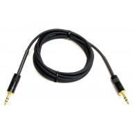 Ultra-Premium Audiophile mono or stereo 3.5mm (1/8 inch) shielded patch cable with Rean connectors - 72 inches long