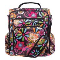 Bohemian Floral Convertible Backpack Diaper Bag