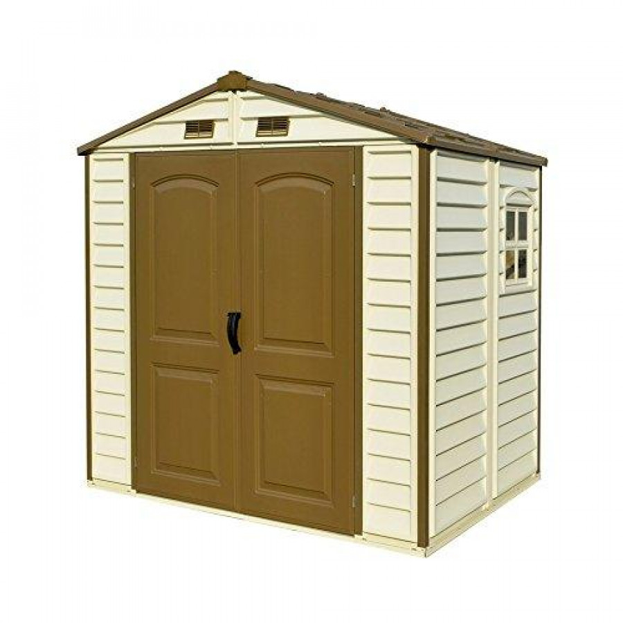 8x6 StoreAll Vinyl Shed with Foundation