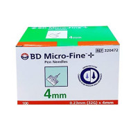 Bd Micro Fine Plus 32g X 4mm Pen Needles 100 Count