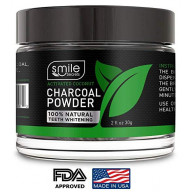 Natural Teeth Whitening Charcoal Powder By Smile Secrets