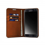 Vest Anti-Radiation Wallet case for Samsung Galaxy S7 - Brown