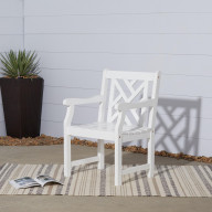 V1338 Bradley Outdoor Wood Armchair
