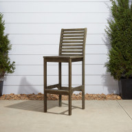 V1354 Renaissance Outdoor Hand-scraped Hardwood Bar Chair