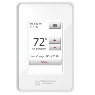 nSpire Touch: Touch Thermostat - Programmable, Class A GFCI, w/Floor Sensor - White with WarmlyYours Logo