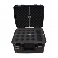 VaultX Watertight Holds 16 Microphone Case, Ext: 18 x 16 x 11