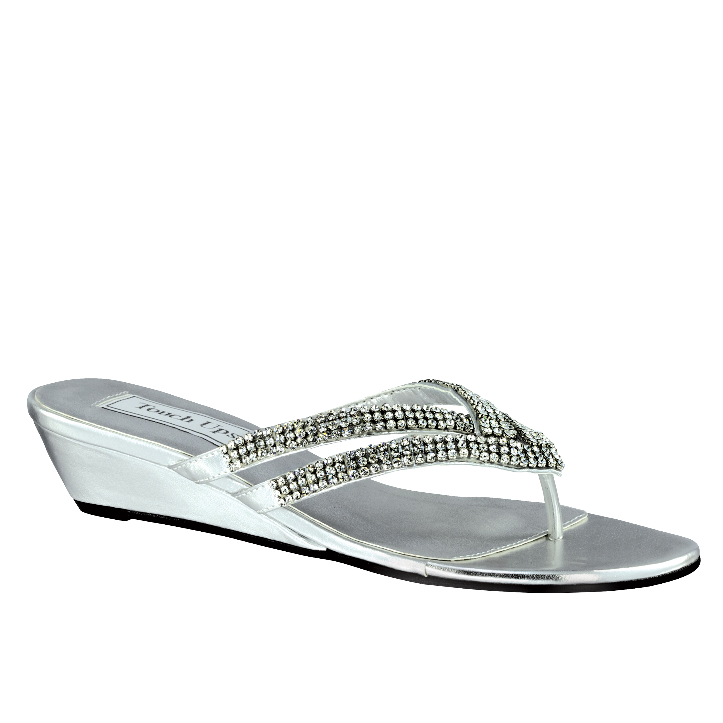 26767c2a926b Benjamin Walk 848231017271 Touch UPS Womens Tango Wedge Sandal Silver Wide  7. About this product. Stock photo  Picture 1 of 2 ...