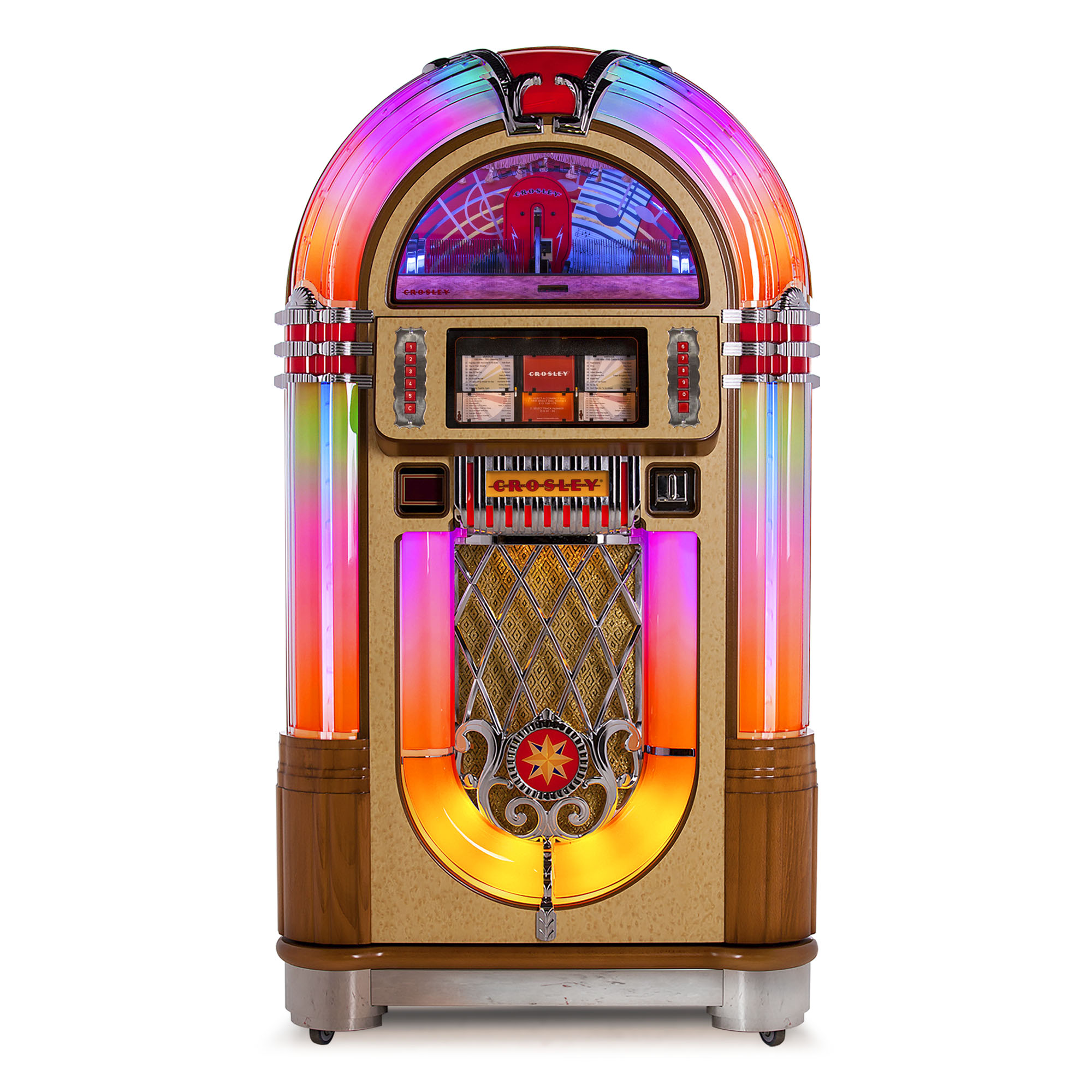 crosley slim line 50 39 s retro 80 cd bluetooth 240 watt jukebox for 2015 for sale online ebay. Black Bedroom Furniture Sets. Home Design Ideas