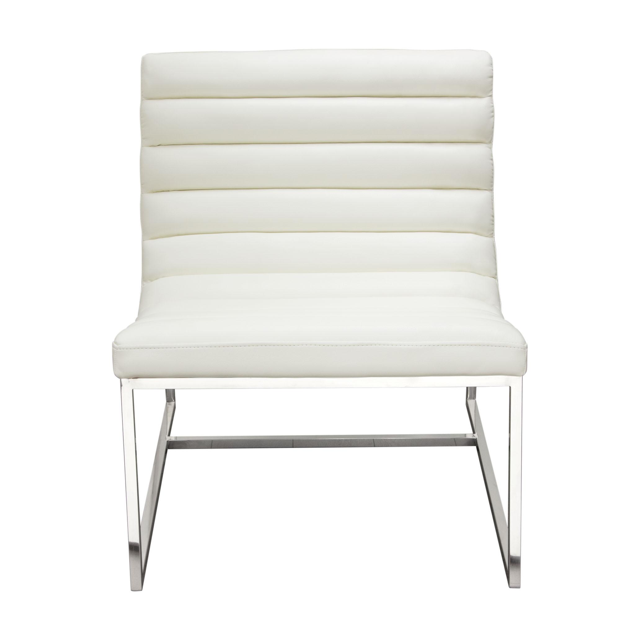 Bardot Lounge Chair w/ Stainless Steel Frame by Diamond Sofa   eBay