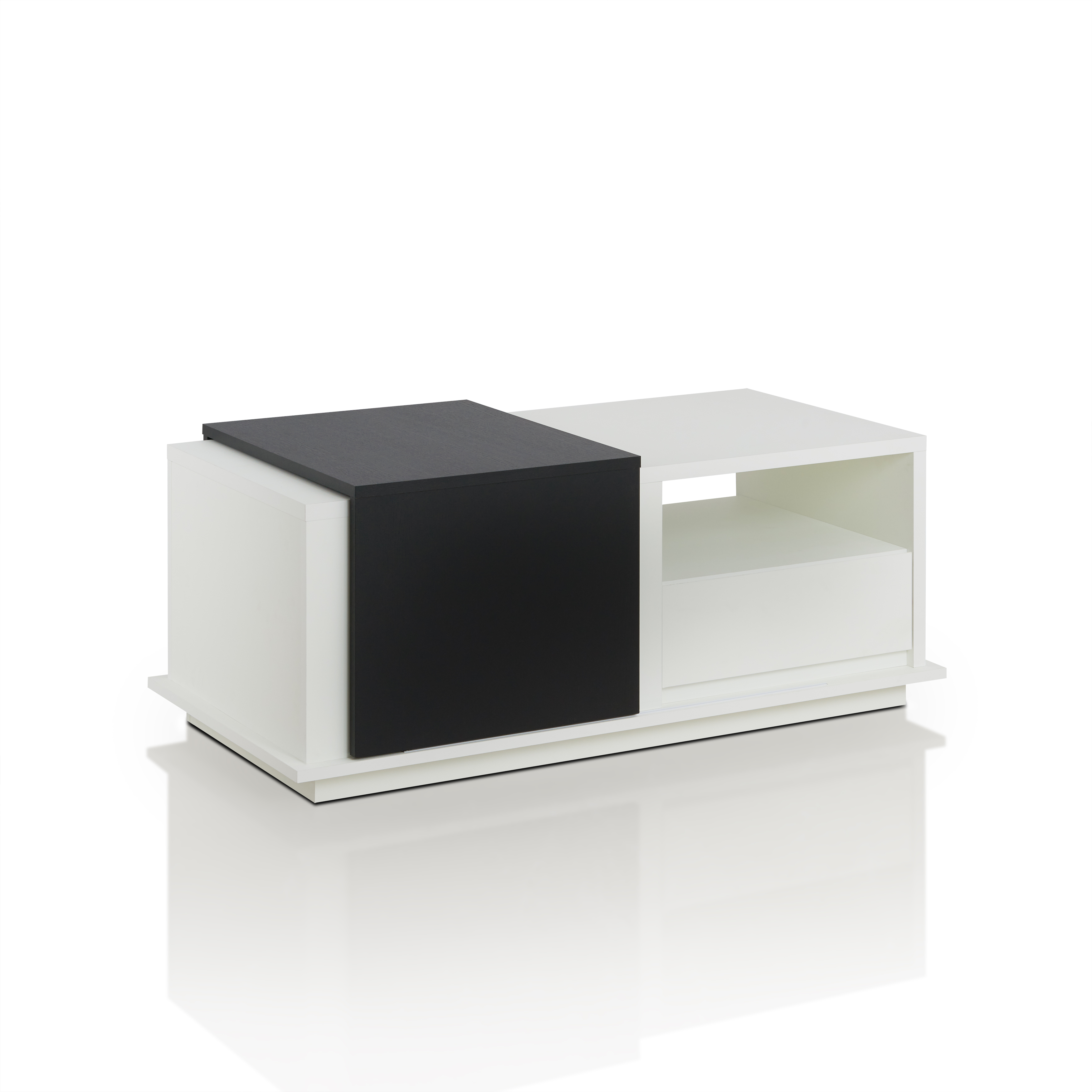 Ton Sliding Panel Coffee Table Contemporary Style White