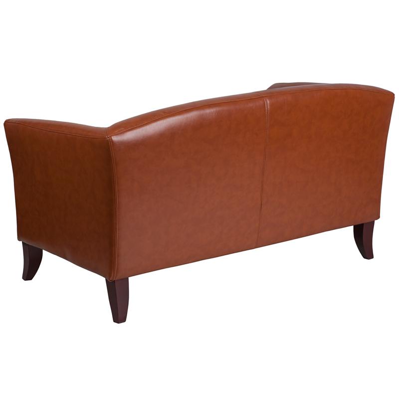 HERCULES-Imperial-Series-Gray-Leather-Loveseat-111-2-GY-GG thumbnail 5