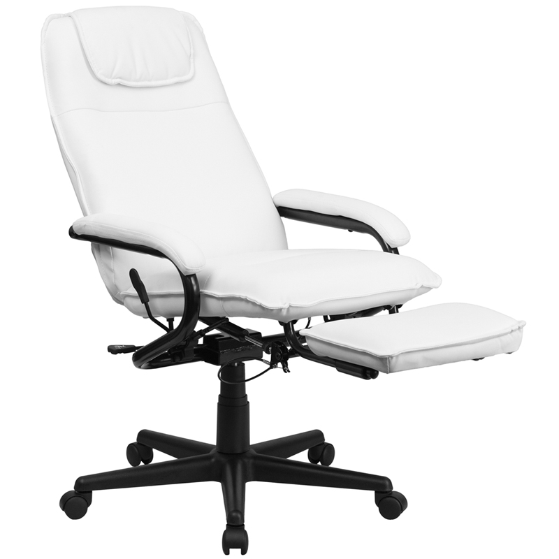 Incroyable High Back Leather Executive Reclining Swivel Chair With