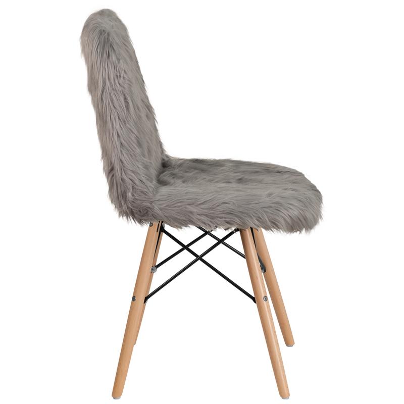 Shaggy Dog White Accent Chair Ebay