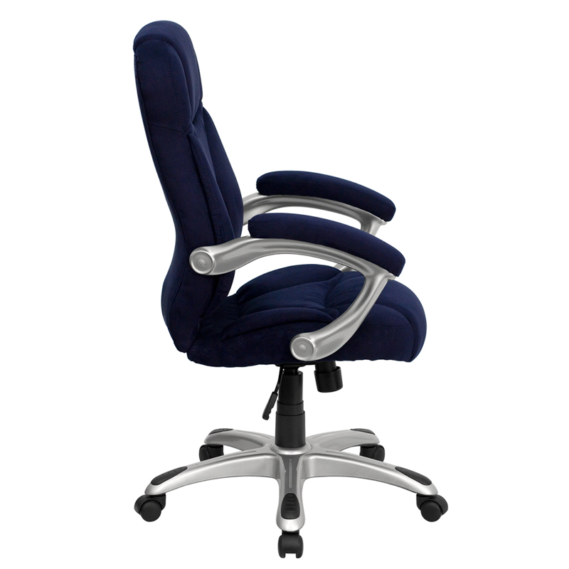 Details About High Back Leather Contemporary Executive Swivel Chair With  Arms   GO 725 BK L...