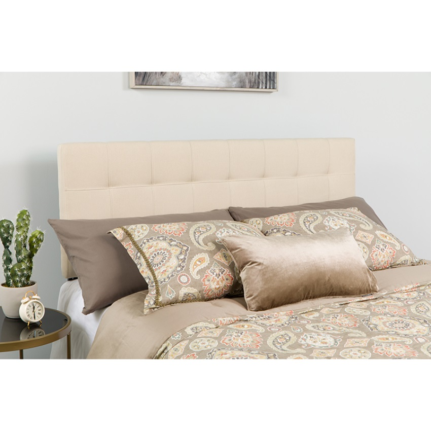 Bedford Tufted Upholste Queen Size Headboard in  Fabric