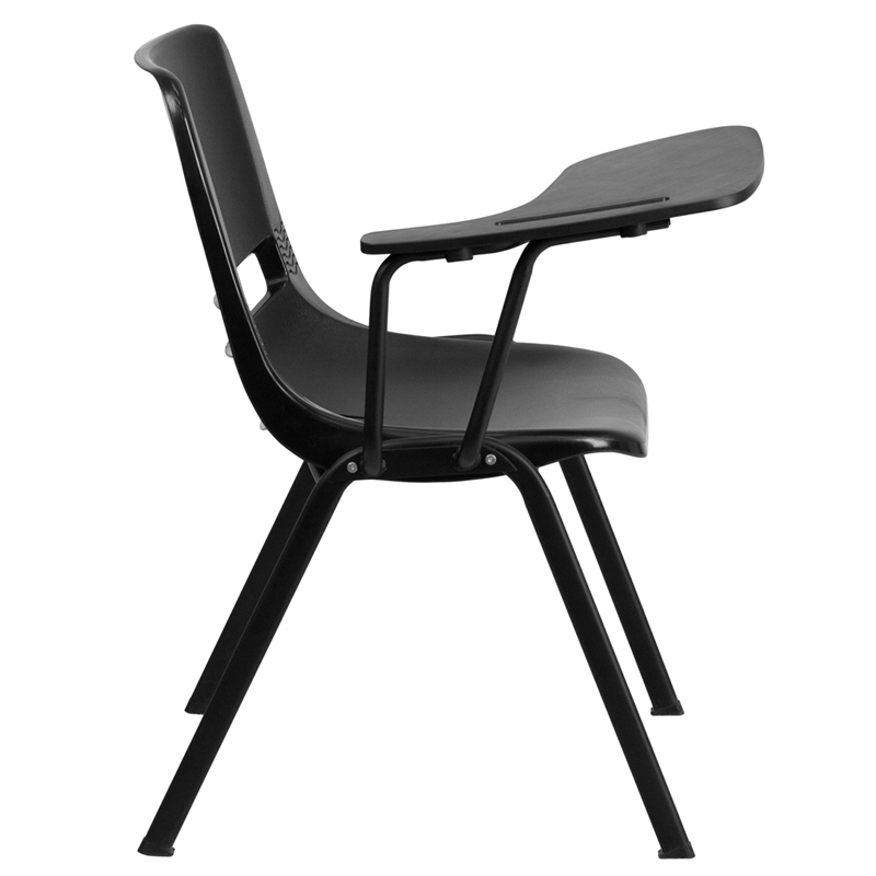 Ergonomic Shell Chair With Right Handed Flip Up