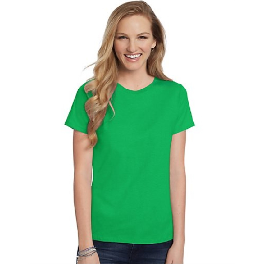 Hanes-Women-039-s-Relaxed-Fit-Jersey-ComfortSoft-Crewneck-T-Shirt-S thumbnail 93