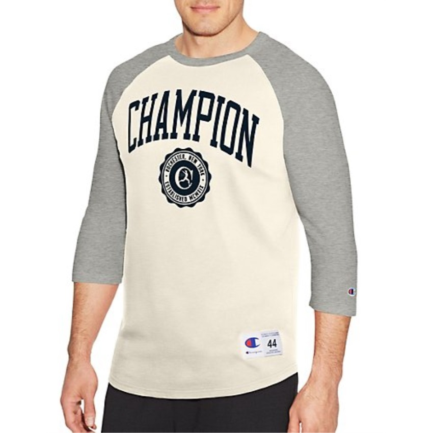 19ddc5454 Champion-Men-039-s-Heritage-Baseball-Slub-Tee-