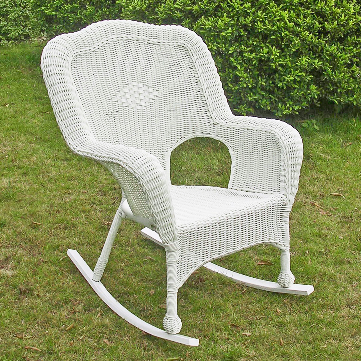 Maui Camelback Resin Wicker Steel Outdoor Rocking Chair