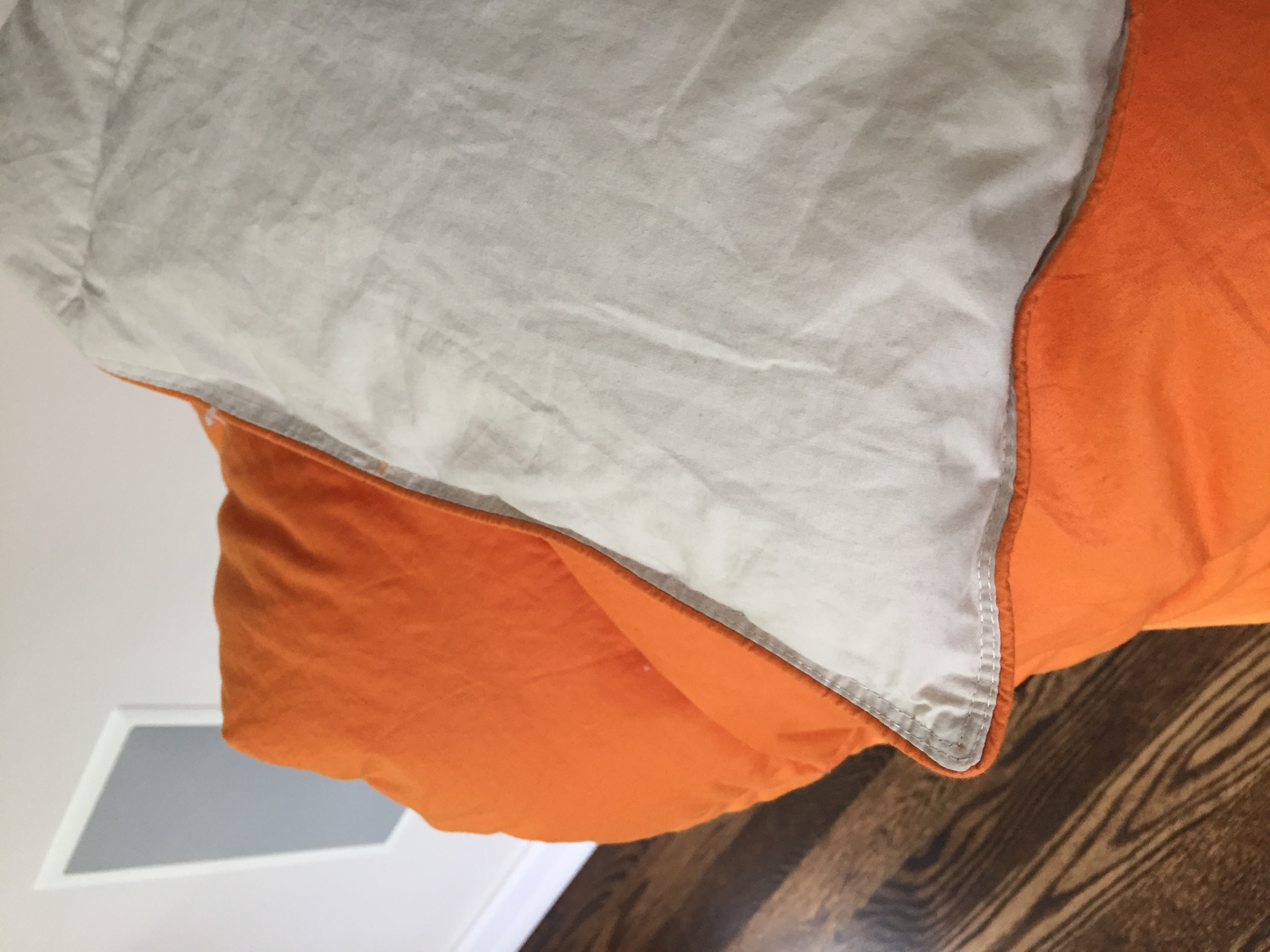 color ebay loe solid orange reversible itm vera season comforter all