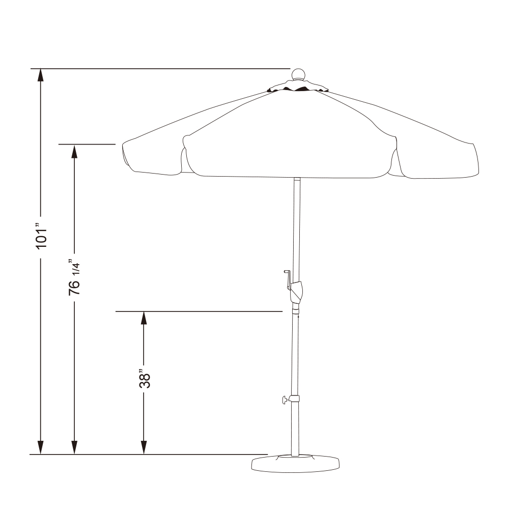 Sunline-7-5-039-Patio-Umbrella-With-Aluminum-Pole-Aluminum-Ribs3-Way-Tilt-Crank thumbnail 6