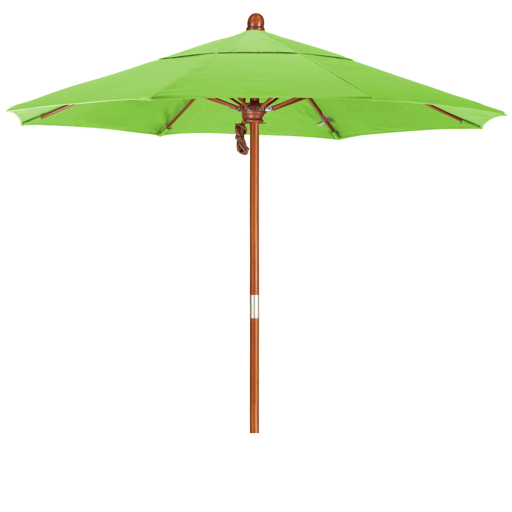 7 5 Grove Series Patio Umbrella With Wood Pole Hardwood Ribs