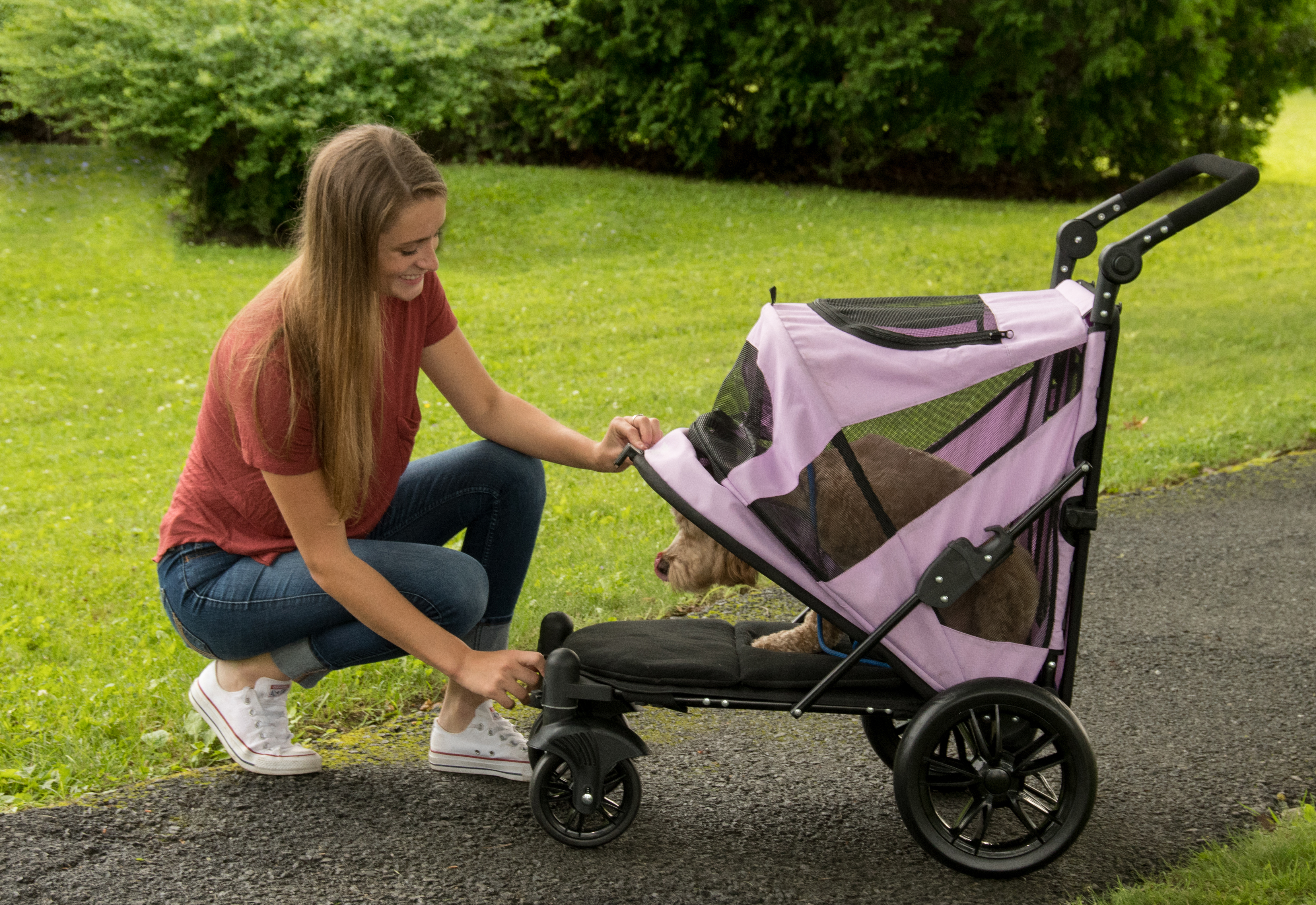 EXCURSION-NO-ZIP-PET-STROLLER-CANDY-RED thumbnail 9