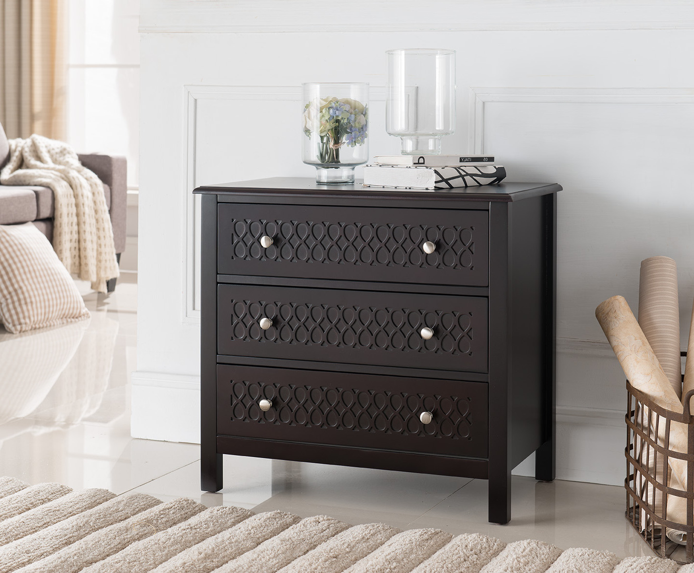 Image Is Loading Espresso Wood Accent Entryway Display Console Table With