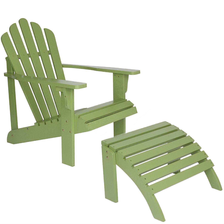 Westport Adirondack Chair With Ottoman Standard