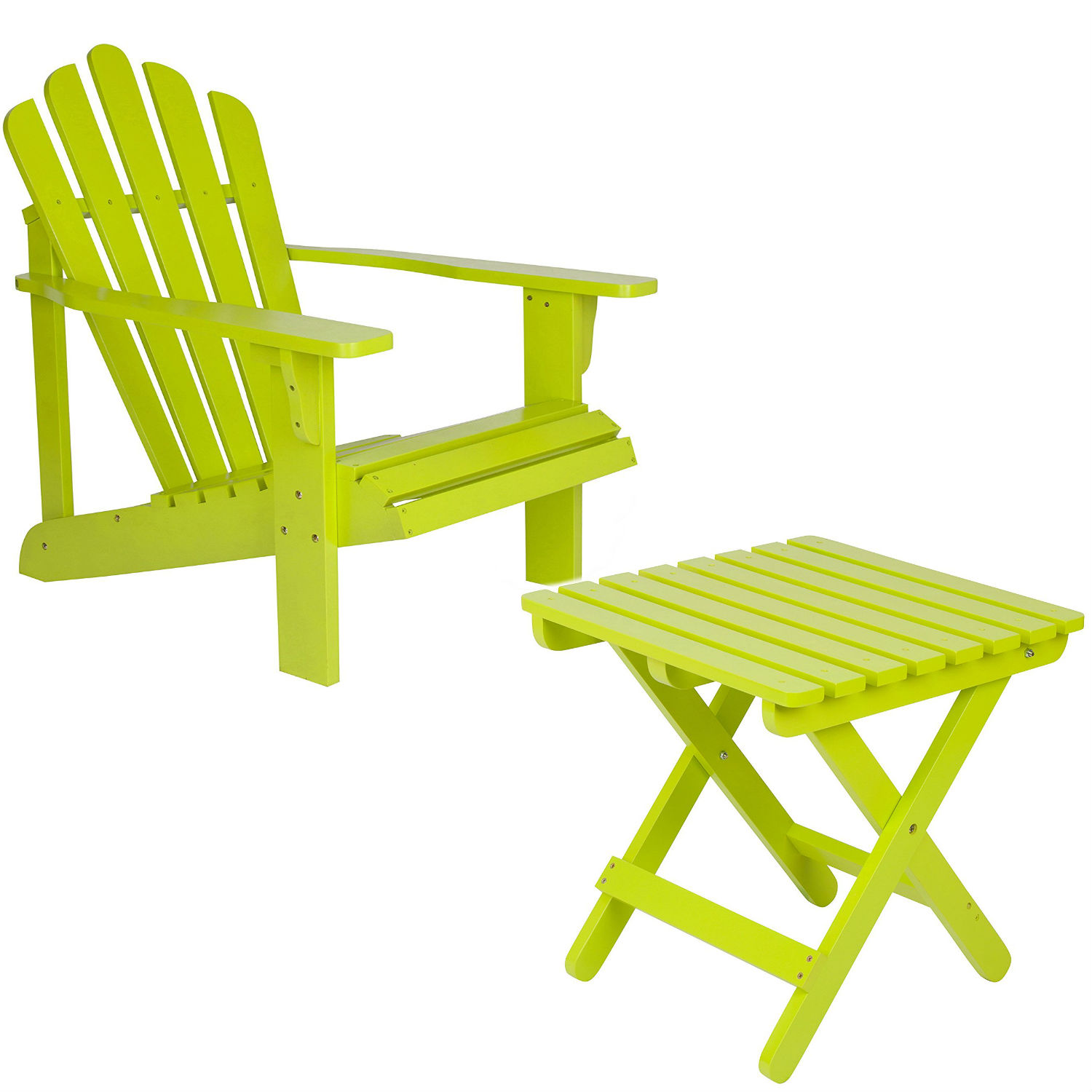 Garden adirondack chairs with table