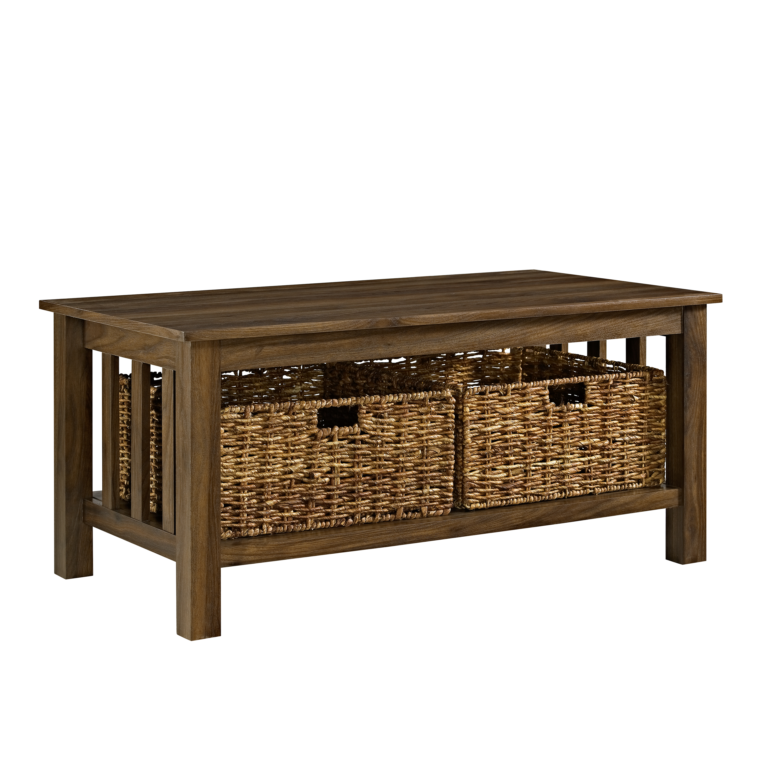 """Coffee Table With Storage Ebay: 40"""" Wood Storage Coffee Table With Totes - Driftwood"""