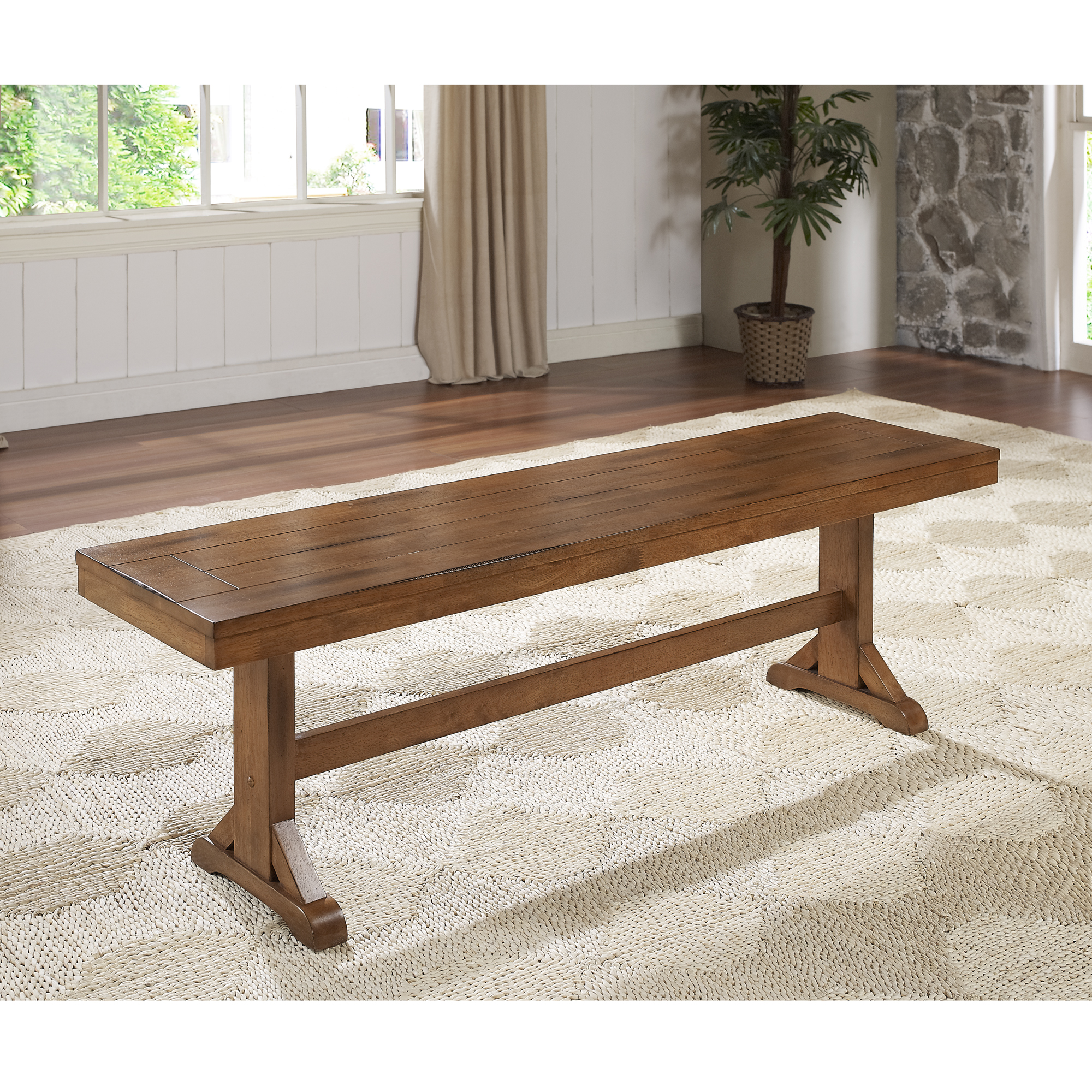 "60"" Wood Dining Kitchen Bench"