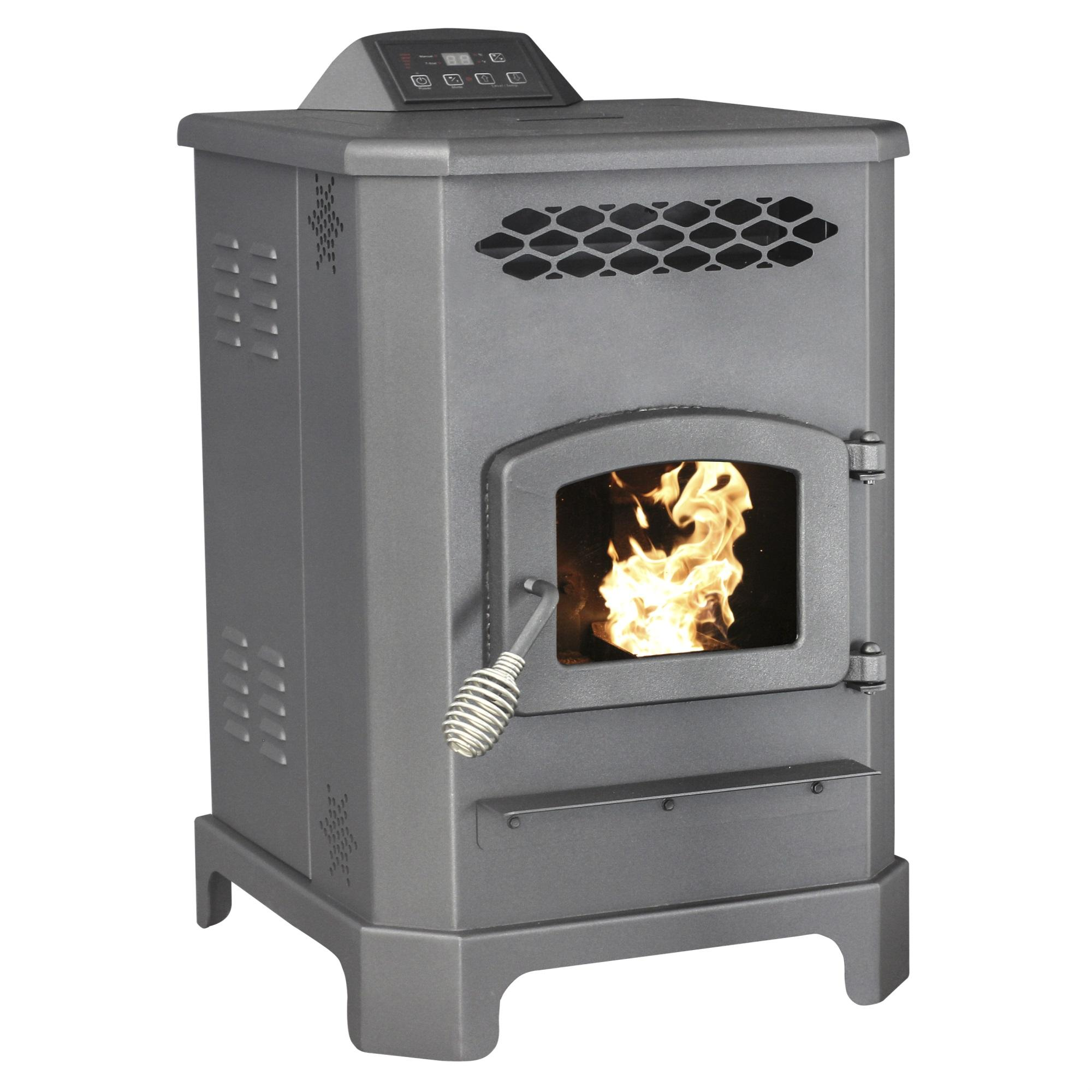 2200 Sq.Ft. King Mini Pellet Stove with 20 lb Hopper and Remote