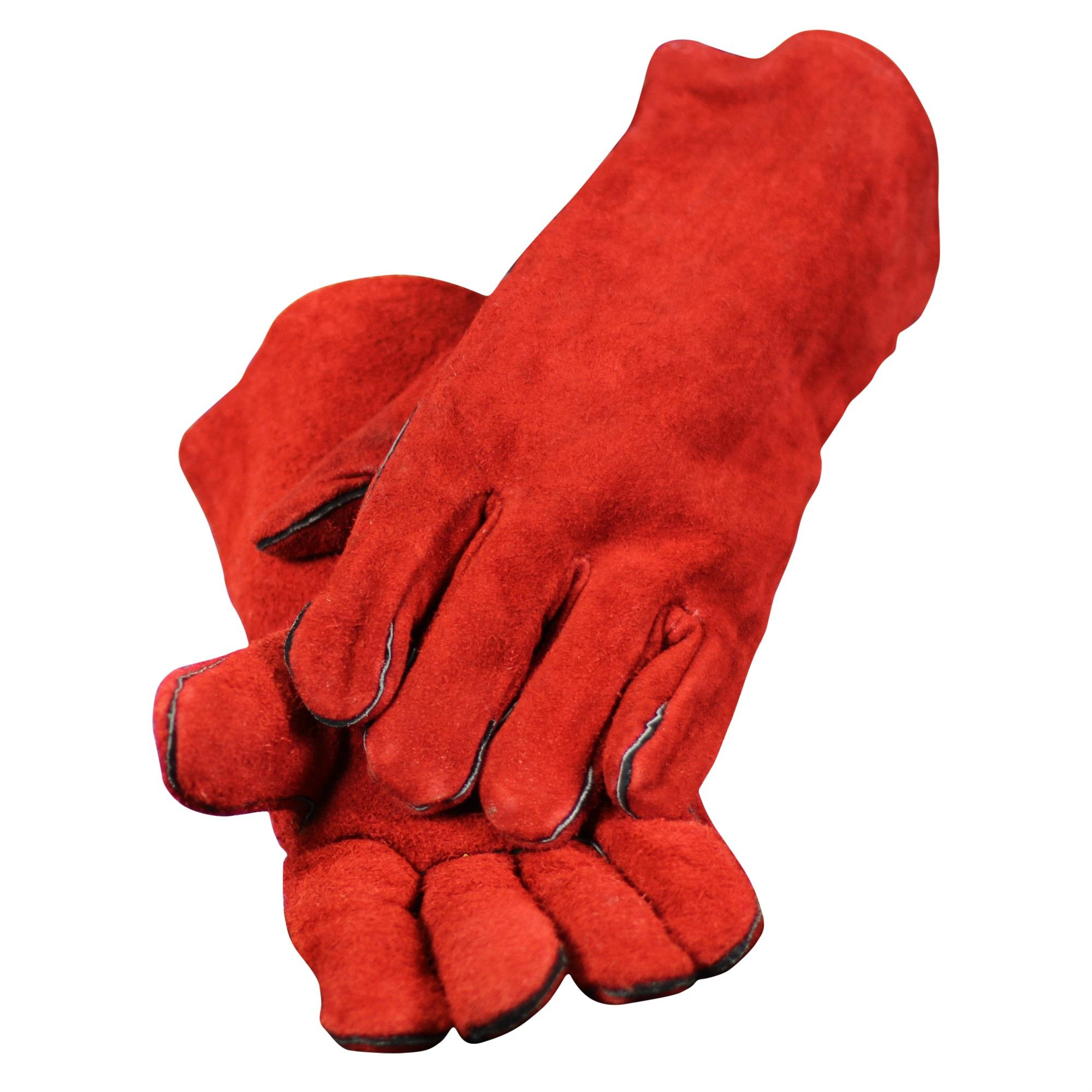 Fireplace Gloves- Red Leather