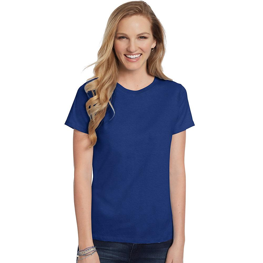 Hanes-Women-039-s-Relaxed-Fit-Jersey-ComfortSoft-Crewneck-T-Shirt-S thumbnail 117