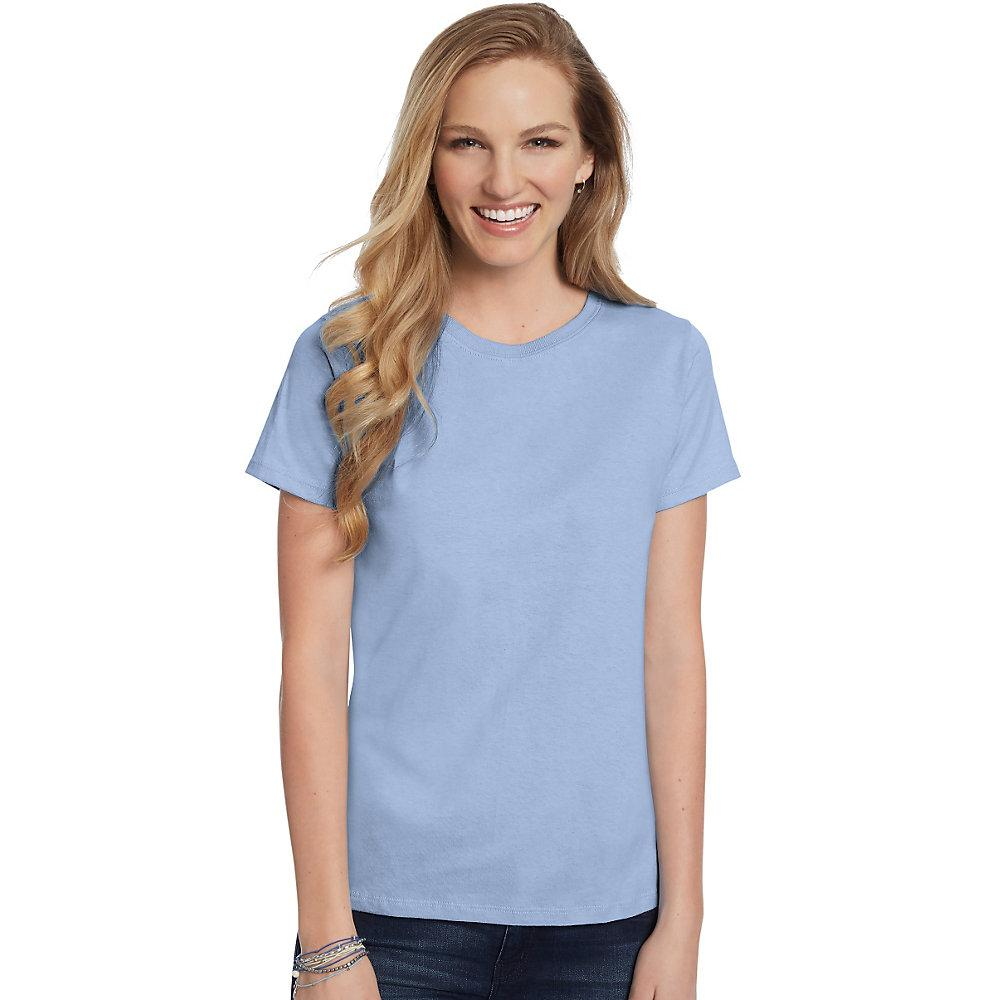 Hanes-Women-039-s-Relaxed-Fit-Jersey-ComfortSoft-Crewneck-T-Shirt-S thumbnail 63